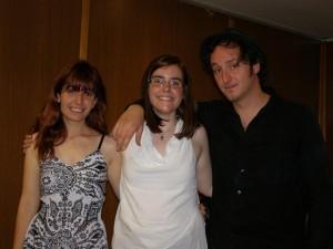 Con mi hermana y Dani